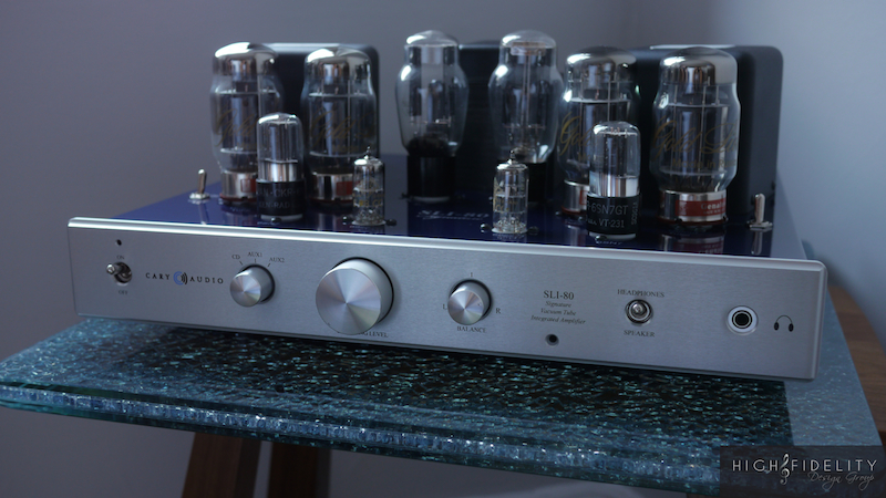 custom Cary Audio SLI-80 integrated vacuum tube amplifier